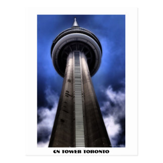 CN TOWER sign, CN TOWER TORONTO Postcard