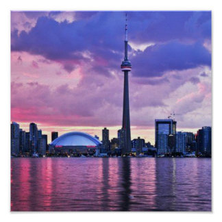CN Tower : View from Center Island Toronto Print