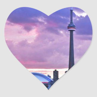 CN Tower View from Center Island Toronto Stickers