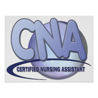 CNA BIG BLUE CERTIFED NURSING ASSISTANT POSTER