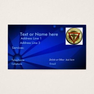 CNA business card template