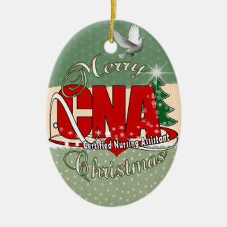 CNA CHRISTMAS Certified Nursing Assistant Ceramic Ornament