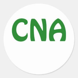 CNA CLASSIC ROUND STICKER