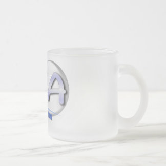 CNA FUN BLUE - CERTIFIED NURSING ASSISTANT FROSTED GLASS COFFEE MUG