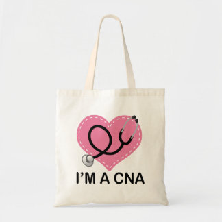 CNA Heart Stethoscope Tote Bag