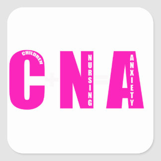 cna parents square sticker
