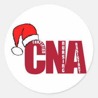 CNA SANTA - CERTIFIED NURSING ASSISTANT STICKERS