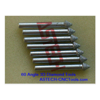 CNC Router Bits for Beautiful 3D Stone Carving Postcard