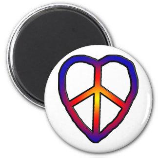 CND Heart copy 6 Cm Round Magnet