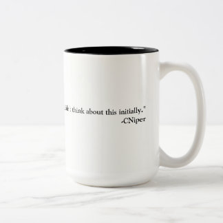 Cniper Thinking Two-Tone Coffee Mug