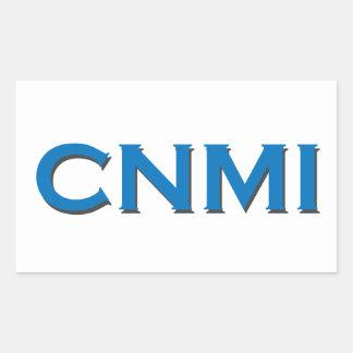 CNMI (text logo) Rectangular Sticker