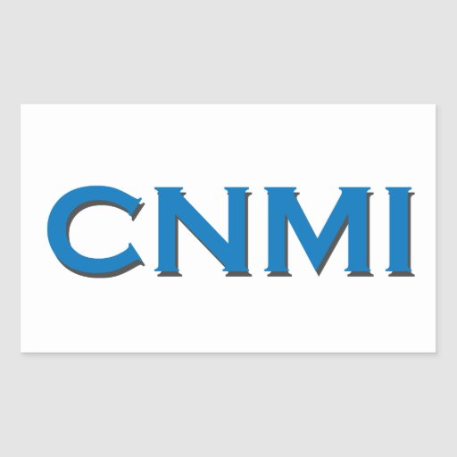 CNMI (text logo) Sticker