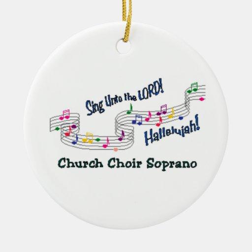 Cnotes Church Choir Soprano Christmas Tree Ornament