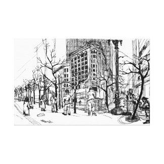 Cnr Market, Sansome & Sutter St. San Francisco. Canvas Print