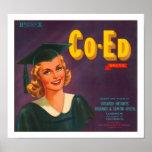 Co-Ed Brand Citrus Label Print
