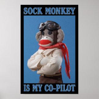 Co-Pilot Monkey Poster