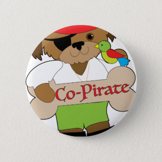 Co-Pirate Dog 6 Cm Round Badge