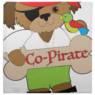 Co-Pirate Dog Napkin