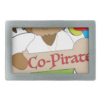 Co-Pirate Dog Rectangular Belt Buckle