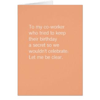 Co-worker birthday | Free cake Card