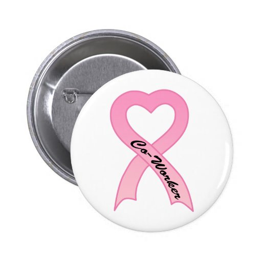 Co-Worker Pink Ribbon Button