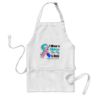 Co-Worker - Thyroid Cancer Ribbon Adult Apron