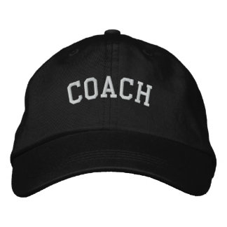 Coach Basic Adjustable Embroidered  Cap Black
