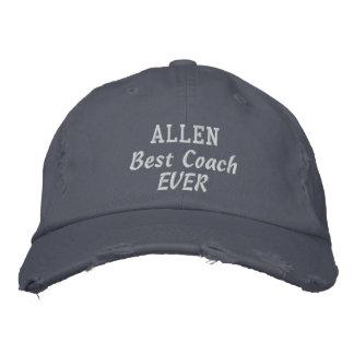 COACH Best Coach Ever Custom Name V01 Embroidered Baseball Caps
