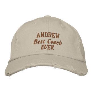 COACH Best Coach Ever Custom Name V05 Embroidered Baseball Caps