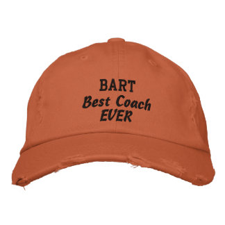 COACH Best Coach Ever Custom Name V07 Embroidered Hat