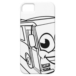 Coach Bus Cartoon Character Mascot Scene Barely There iPhone 5 Case