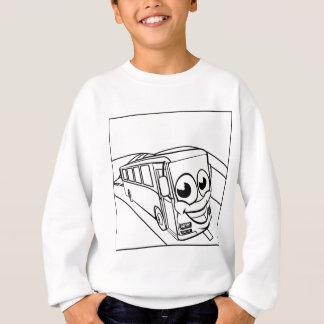 Coach Bus Cartoon Character Mascot Scene Sweatshirt