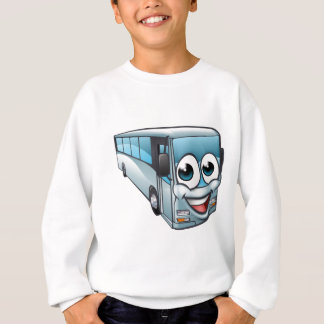 Coach Bus Cartoon Character Mascot Sweatshirt