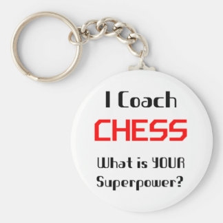 Coach chess basic round button key ring