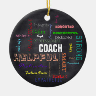 Coach Gift Subway Art Bright Typography Ceramic Ornament