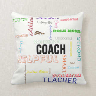 Coach Pride Gift Attributes Traits Typography Cushion