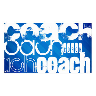 Coach; Royal Blue Stripes Business Card