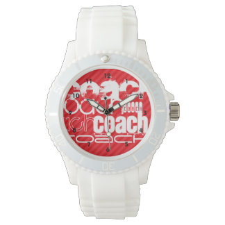 Coach; Scarlet Red Stripes Wristwatches