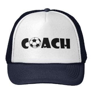 Coach Soccer Trucker Hat Cap (Navy Blue)