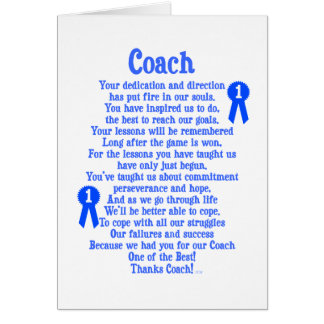 Coach Thank You Card
