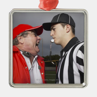 Coach Yelling at Referee Metal Ornament