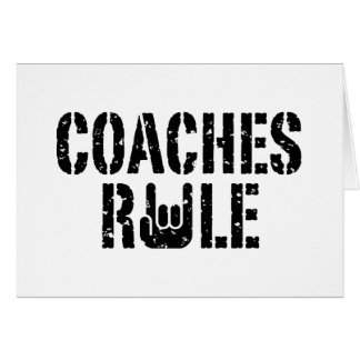 Coaches Rule Card