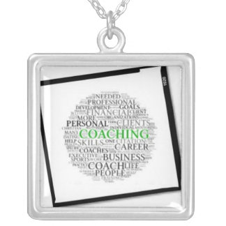 Coaching Framed Square Necklace #6 Black Frame
