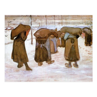 Coal bearing women by Vincent van Gogh Postcard