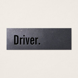 Coal Black Driver Mini Business Card
