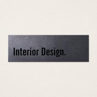 Coal Black Interior Design Mini Business Card