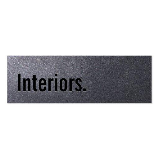 Coal Black Interiors Mini Business Card