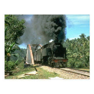 Coal empties for Padang Panjang are hauled by 2-6- Postcard
