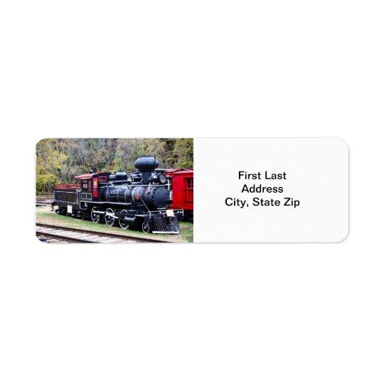 Coal Engine Train Return Address Label
