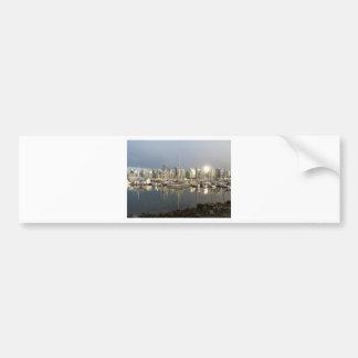 Coal Harbour, BC at sunset. Bumper Sticker
